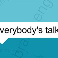 "Image of social marketing eBook with words ""Everybody's talking"""