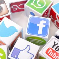 Image of various social media icons