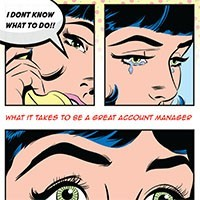 comic book cover of account manager eBook